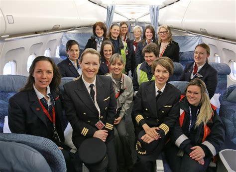 エア・カナダ「国際女性デー」に女性客室乗務員、女性パイロットだけのフライトを運航 | アイザック・CA就活転職ニュース