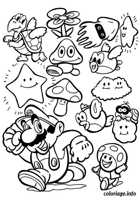 coloriage les personnages de mario dessin