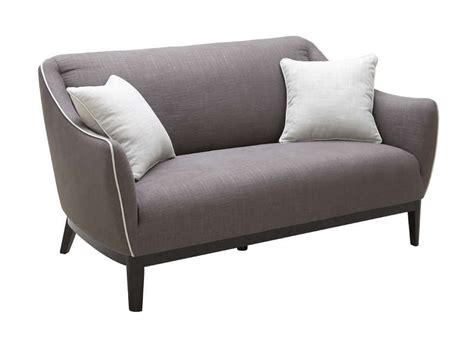 bureau gris taupe canapé rétro 2 places en tissu taupe oswald achatdesign