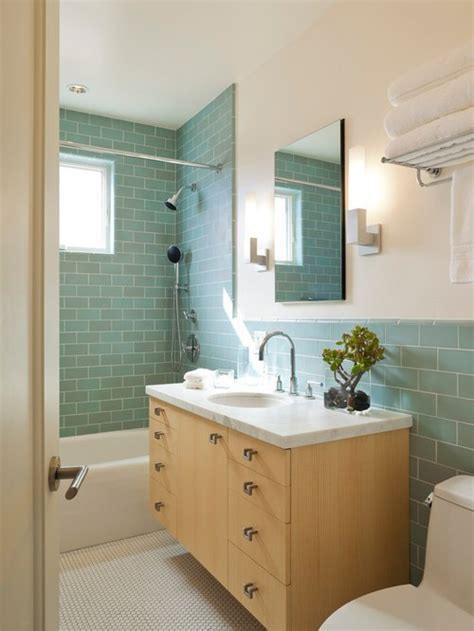 Colored Subway Tile Bathroom by Best Colored Subway Tile Design Ideas Remodel Pictures