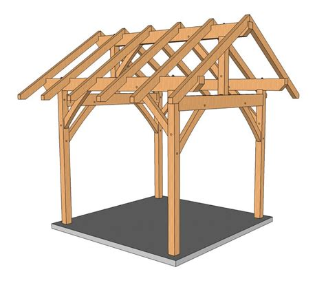 Post And Beam Shed Plans by Timber Frame Shed Plans Timber Frame Hq