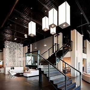 Industrial modern loft lobby | Lobby inspiration ...