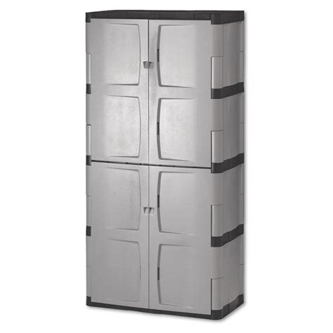 plastic storage cabinets with doors shop rubbermaid commercial products 72 in x 36 in 2 drawer