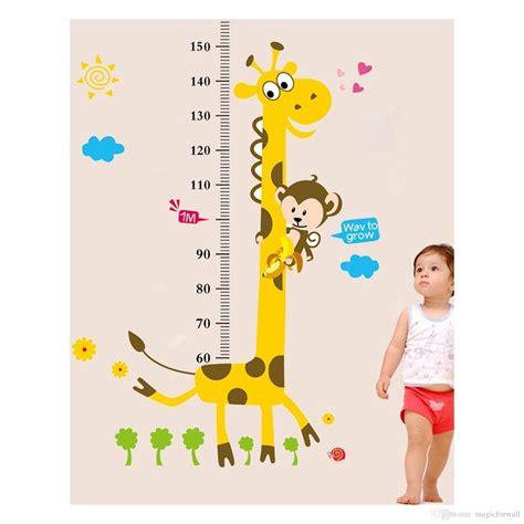 giraffe ruler wall sticker giraffe monkey height ruler wall decal stickers