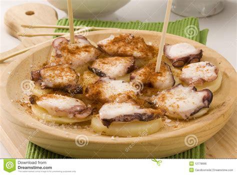 la cuisine espagnole cuisine espagnole type de galicien de poulpe image libre