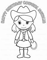 Cowgirl Coloring Pages Printable Hat Pigtails Party Cowgirls Birthday Drawing Personalized Colouring Cowboy Childrens Print Sheets Horse Pdf Outline Getcoloringpages sketch template