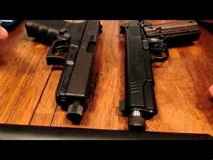 The quieter host? Glock 21 vs 1911 - YouTube
