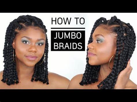cheveux afro  crepus   jumbo box braids bob tuto