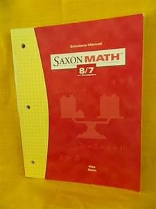 Saxon Math 87 Solution Manual  3rd Edition  Homeschool Or