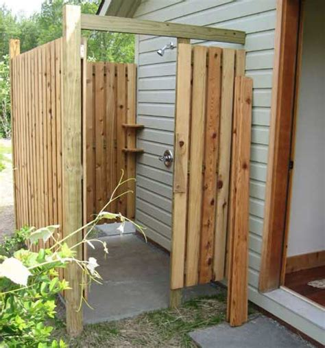 plans to build an outdoor bathroom outdoor showers