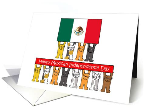 Mexican Independence Day, September 16th, Cartoon Cats ...