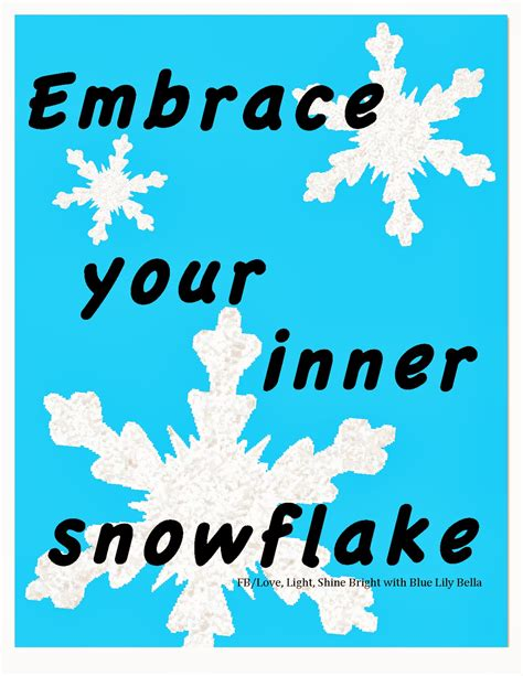 Snowflake Memes - love light and shine bright with blue lily bella