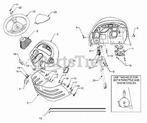 Cub Cadet Parts On The Dash Panel Diagram For 3184  14a