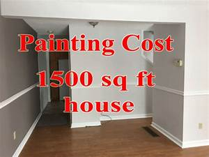 Cost paint 1500 sq ft house interior