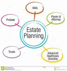 Estate Planning Chart Stock Vector