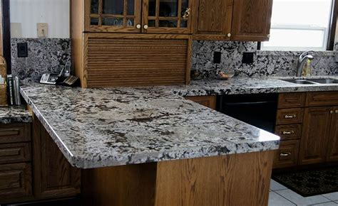 chocolate bordeaux granite with miter apron edge