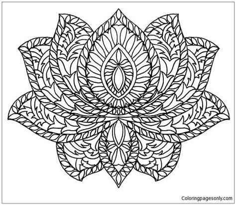 lotus mandala coloring page  coloring pages
