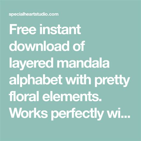 Free layered mandala alphabet svg august 2020 free svg cut files for your cricut, silhouette or other cutting machines. FREE Layered Mandala Alphabet SVG in 2020   Mandala ...
