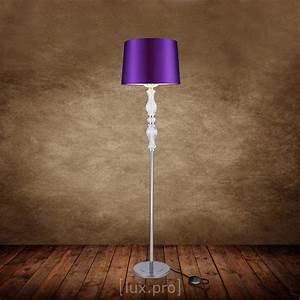 Stehlampe Brauner Schirm : elegant stehleuchte stehlampe lampe wohnzimmerlampe leuchte standleuchte lila ebay ~ Markanthonyermac.com Haus und Dekorationen