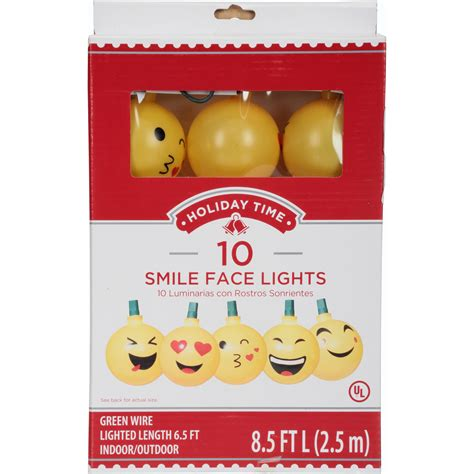 christmas lights emoji new emoji smileface lights time 10 string8 5 ft indooroutdoor ebay
