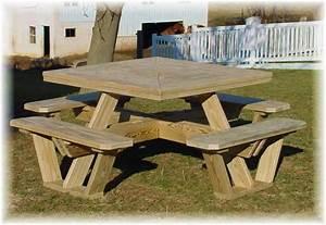 square picnic table plans free woodideas