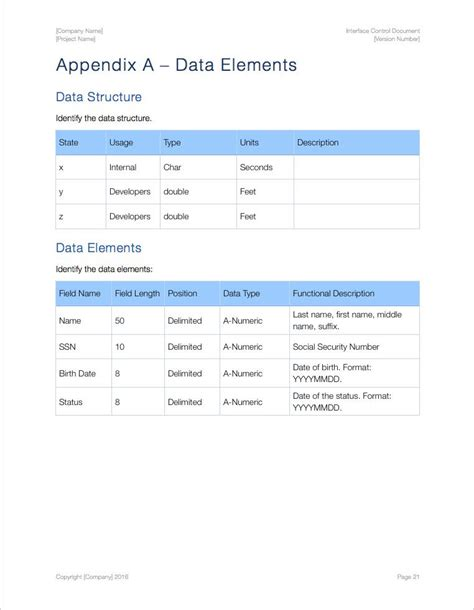 Interface Control Document Template (apple Iwork Pages