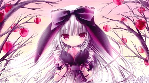 anime girl holding heart  hand  pink wallpapers heart