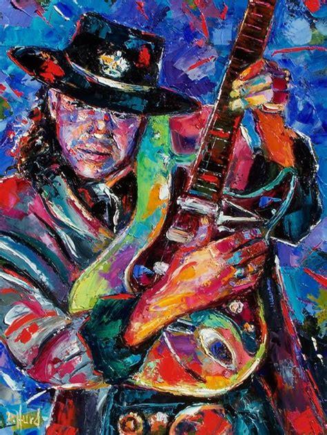 debra hurd original paintings and jazz stevie vaughan painting guitar by debra hurd