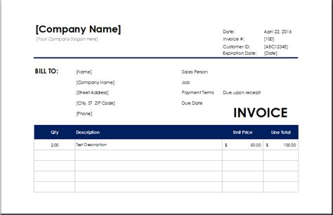 cleaning services invoice excel invoice templates