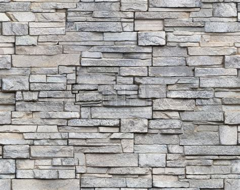 Seamless Light Grey Masonry Stone Wall ...