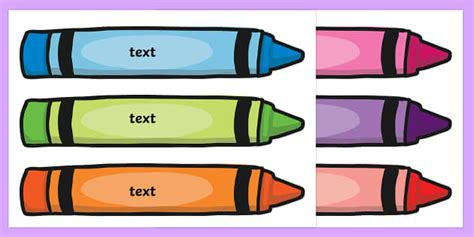 crayon labels template crayon tray labels tray labels pencil labels stationary
