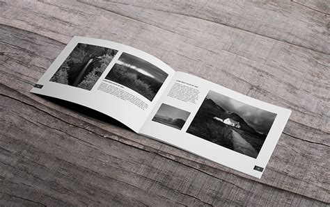 minimal photography portfolio book brochure templates