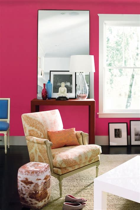 pink paint colors eclectic living room benjamin