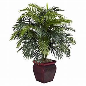 38, Inch, Artificial, Areca, Plant, In, Decorative, Planter
