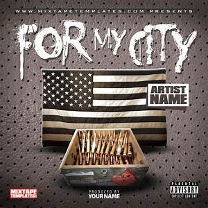 3939for my city3939 mixtape cover template by With free mixtape covers templates