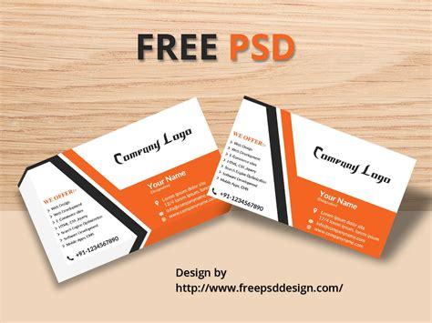 Business Card Mockup Free Psd Template  Free Psd Design