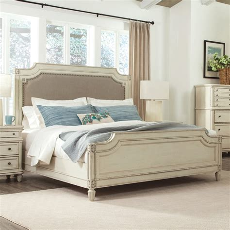 leather livingroom sets huntleigh wood upholstered panel bed in vintage white