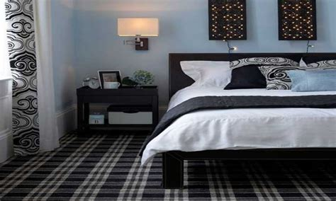 Simple Wall Decorating Ideas, Black White And Blue Bedroom