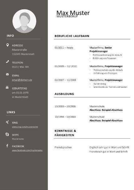 Lebenslaufvorlage Modern Tabellarisch Dunkelgrau. Lebenslauf Zum Ausfuellen Download. Cv 2018 Quebec. Lebenslauf Muster Osterreich. Lebenslauf Muster Und Vorlagen