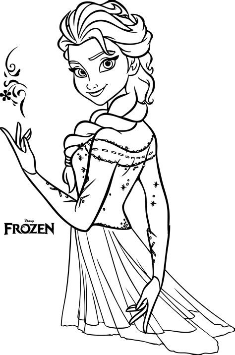 nice beautiful elsa coloring pages legends