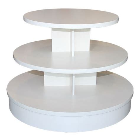 trade show round tables 3 tier white melamine round table table this