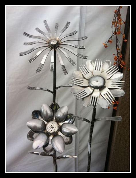 silverware  cutlery  garden flowers simone