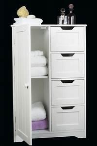 Salle De Bain Meuble : meuble rangement salle de bain blanc solutions pour la ~ Dailycaller-alerts.com Idées de Décoration