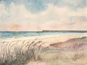 Beach Watercolor Paintings Piers