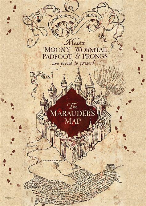 harry potter marauders map mightyprint wall art mp