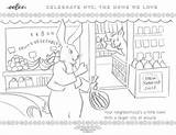 Neighborhood York Coloring sketch template