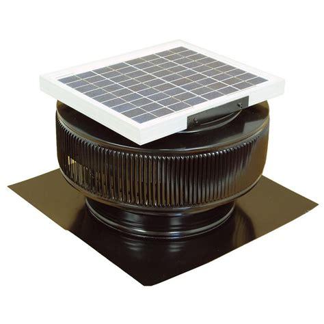 vent exhaust fan to attic active ventilation 740 cfm black powder coated 10 watt