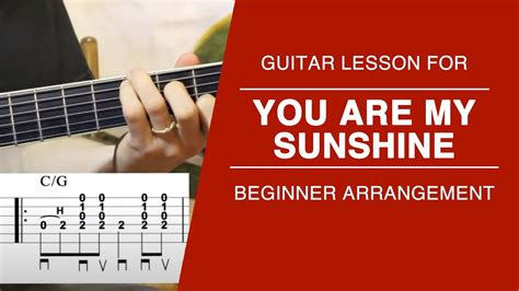 sunshine carter style guitar lesson  tabs