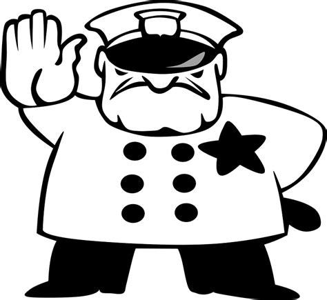 11589 policeman clipart black and white polisi berhenti lalu lintas 183 gambar vektor gratis di pixabay