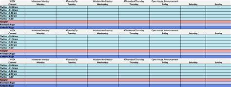 Social Media Calendar Template Social Media Calendar Template Cyberuse
